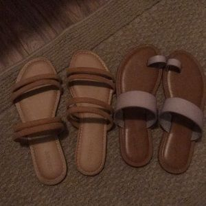 2 pairs of cute sandals size 8 Old Navy & Target